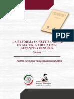 Reforma Constitucional Materia Educativa
