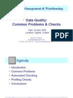 ETIS09 - Data Quality - Common Problems & Checks - Presentation