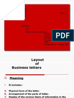 Layout of Business Letter
