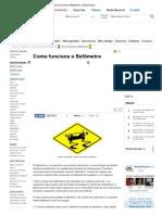 Como funciona o Bafômetro - Brasil Escola