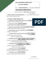 Ficha informativa - A Conjugação perifrástica