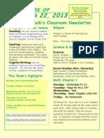 September 22 Newsletter