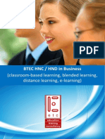 HNC / HND in Business