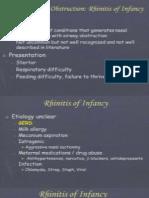 Rhinitis in Infancy