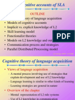 Cognitive Accounts of Second Language Acquisition