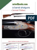 Double Barrel Shotguns Current Values