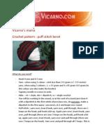 Puff Stitch Baret