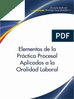 Elementos de La Practica Procesal Aplicados a La Oralidad Laboral