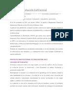 Proyecto de Evaluación Institucional