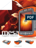 MESA Rugged NotepadOwnerManual