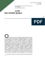 Maria Helena Da Rocha Pereira - O Estatuto Social Dos Artistas Gregos