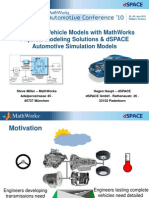 Developing Vehicle Models With Math Works and d Space Pres