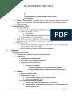Criminal Law Outline 2011