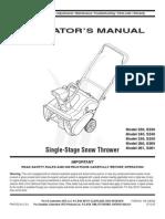 Mt d 240 Snowblower Manual