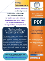 Dynamic Self Governance Scotland Events 2013
