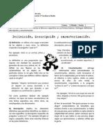 Guía de aprendizaje - 2M - Definición, descripción y caracterización