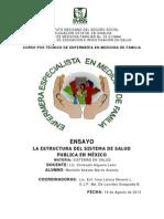 Ensayo Sistemas de Salud en Mexico