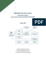 Reporte de Inflacion Junio 2011