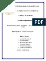 Inseminacion artificial y fecunadacion in vitro