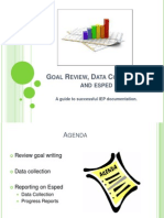 print goal review data collection and esped