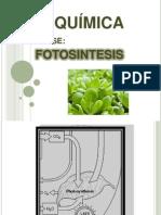 BIOQUÍMICA Clase Fotosíntesis