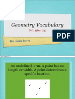 Geometry Vocabulary Set 1