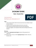 Materi Kuliah Ekonomi Teknik
