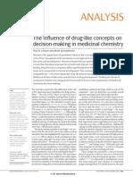 Artigo Druglikeconcepts Medchem Impresso