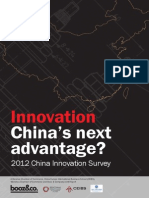 BoozCo 2012 China Innovation Survey