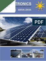 Solar Hybrid Inverter, SolarTronics - Silver Series (500VA-2KVA)