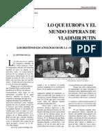 Lo Que Europa y El Mundo Esperan de v Putin