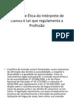 Código de Ética do Intérprete de LIBRAS e (1)