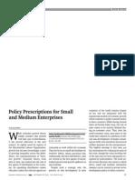 Policy Prescriptions for Small and Medium Enterprises