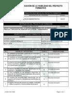 Reporte Viabilidad Proyecto de Aprendizaje - 528033 - APOYO Y CAPACITACIÓN PARA LA G