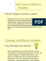Creating an Effective Syllabus(1)