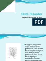 Taste Disorder