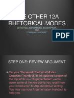 rhetorical modes 12a ppt