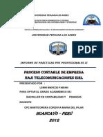 Proceso Contable de Empresa Naji Telecomunicaciones Eirl