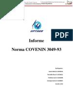Informe Norma Covenin 3049-93