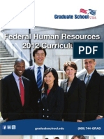 Federal Human Resources 2012 Curriculum