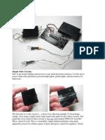 Simple Solar Circuits