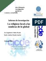 Lo Religioso Local a La Sombra de Lo Global Nunez y Pineda