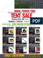 Inteq Industrial - Flyer - Power Tool Tent Sale Sept 26