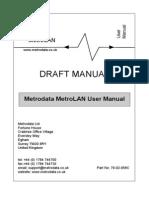 Metrolan Manual