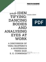 I.ginot Dis-Identifying-Dancing Bodies and Analysing Eyes at Work