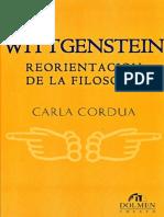 Wittgenstein, Reorientacion de la filosofía - CORDUA, Carla