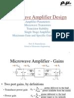 Single stage transistor amplifier