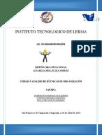 UNIDAD 3 ANÁLISIS DE TÉCNICAS DE ORGANIZACIÓN
