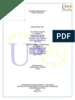 Informe 1 Laboratorio de Quimica