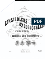 J.K.Mertz Einsiedlers Waldglöcklein Guitar and Piano
